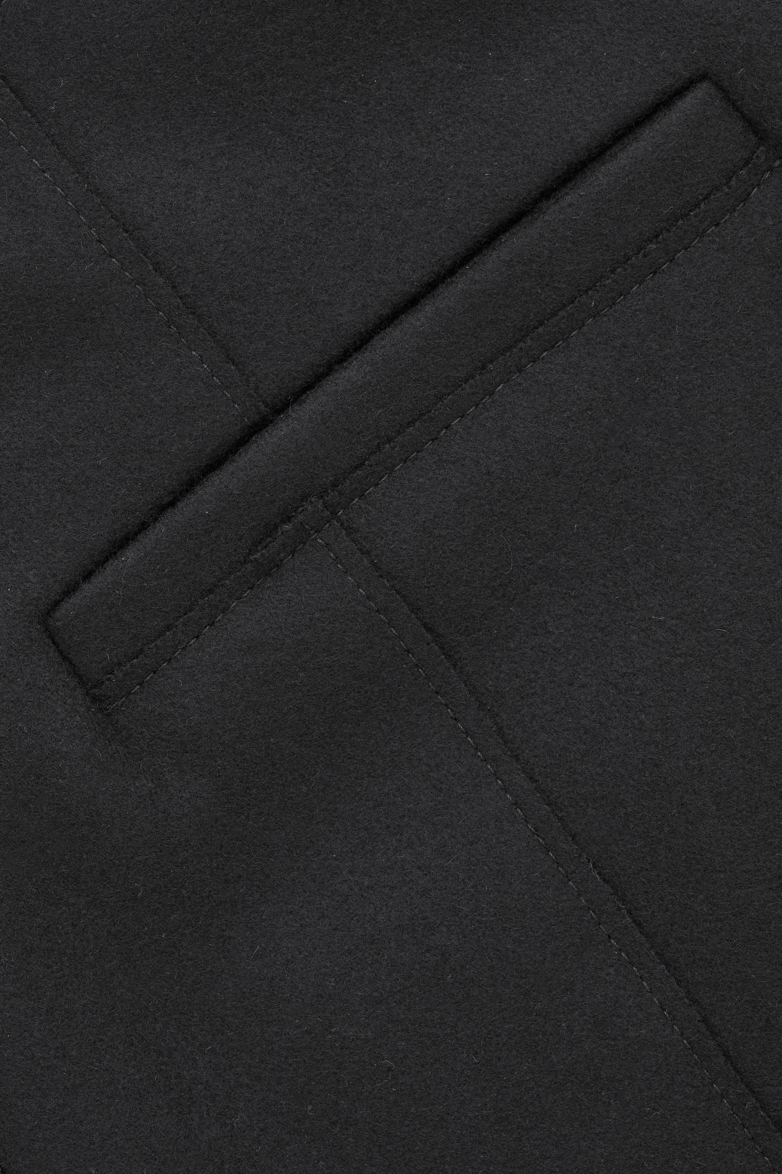 Side image of Cos raw-cut rounded wool culottes in black