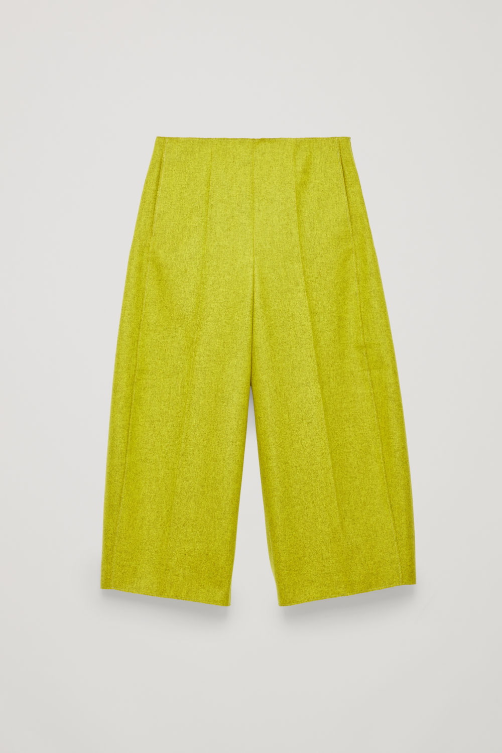 RAW-CUT ROUNDED WOOL CULOTTES