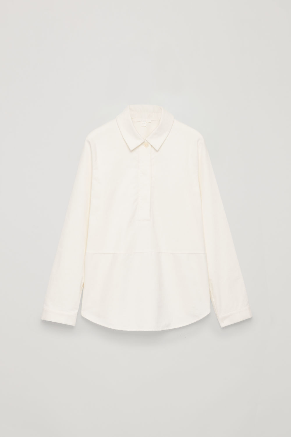 Front image of Cos corduroy overshirt in white
