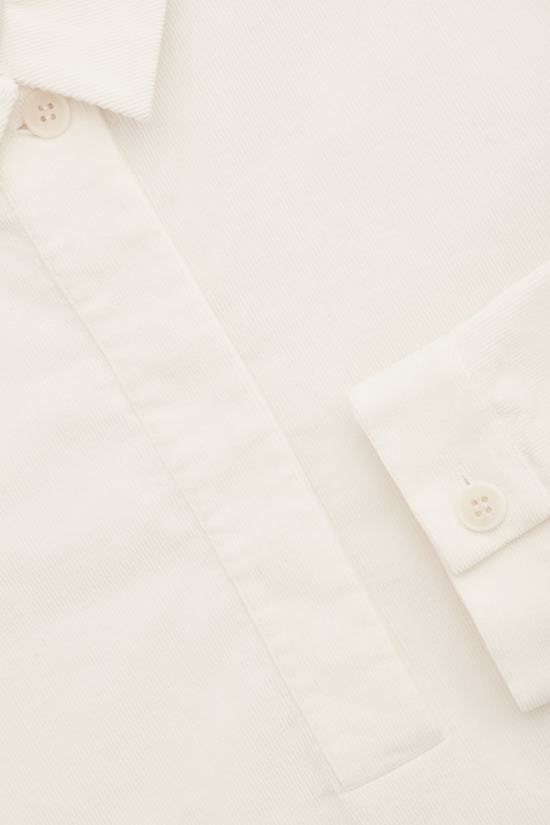 Side image of Cos corduroy overshirt in white