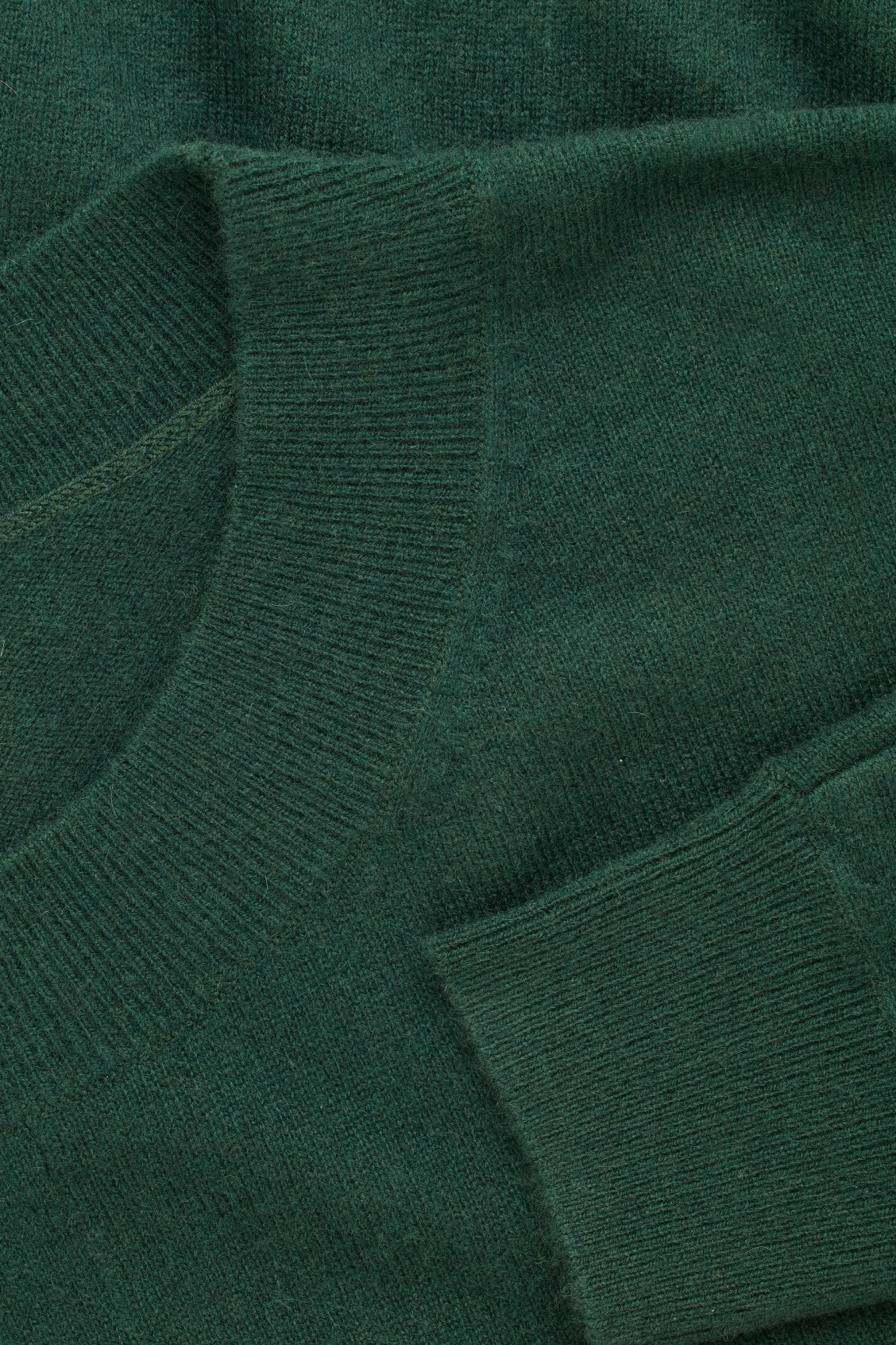 Side image of Cos relaxed cashmere jumper in green