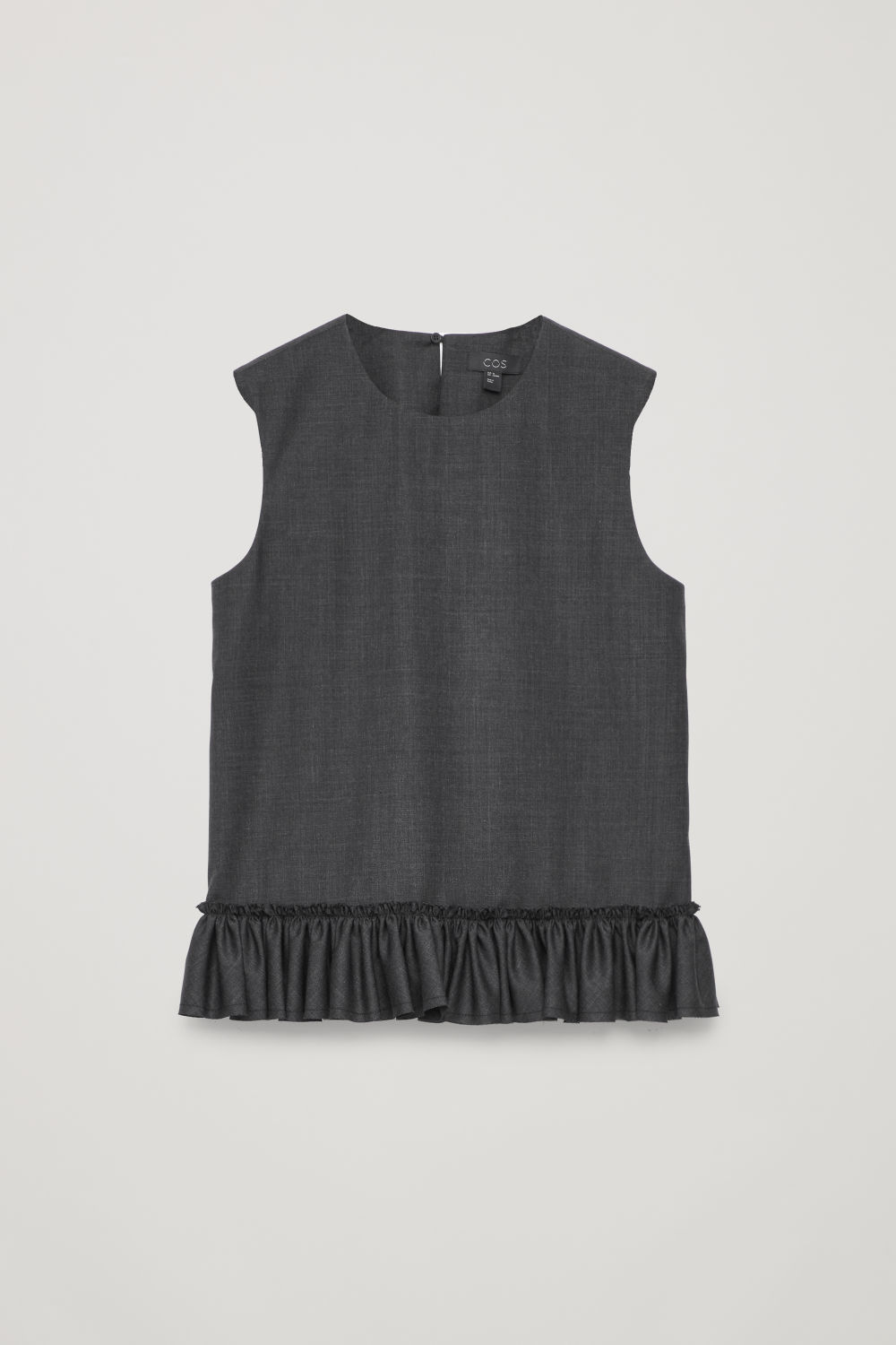 FRILL SLEEVELESS WOOL TOP