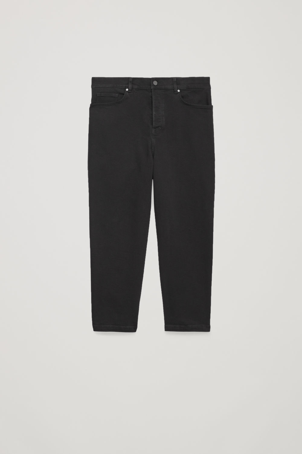 Front image of Cos wide-fit cropped jeans in grey