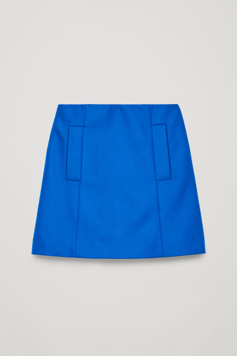 SHORT WOOL SKIRT WITH POCKETS