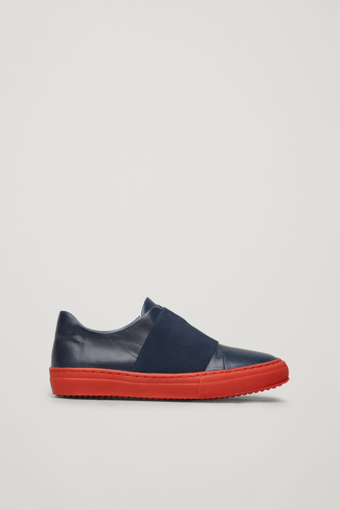 Front image of Cos wrap-over sneakers in blue