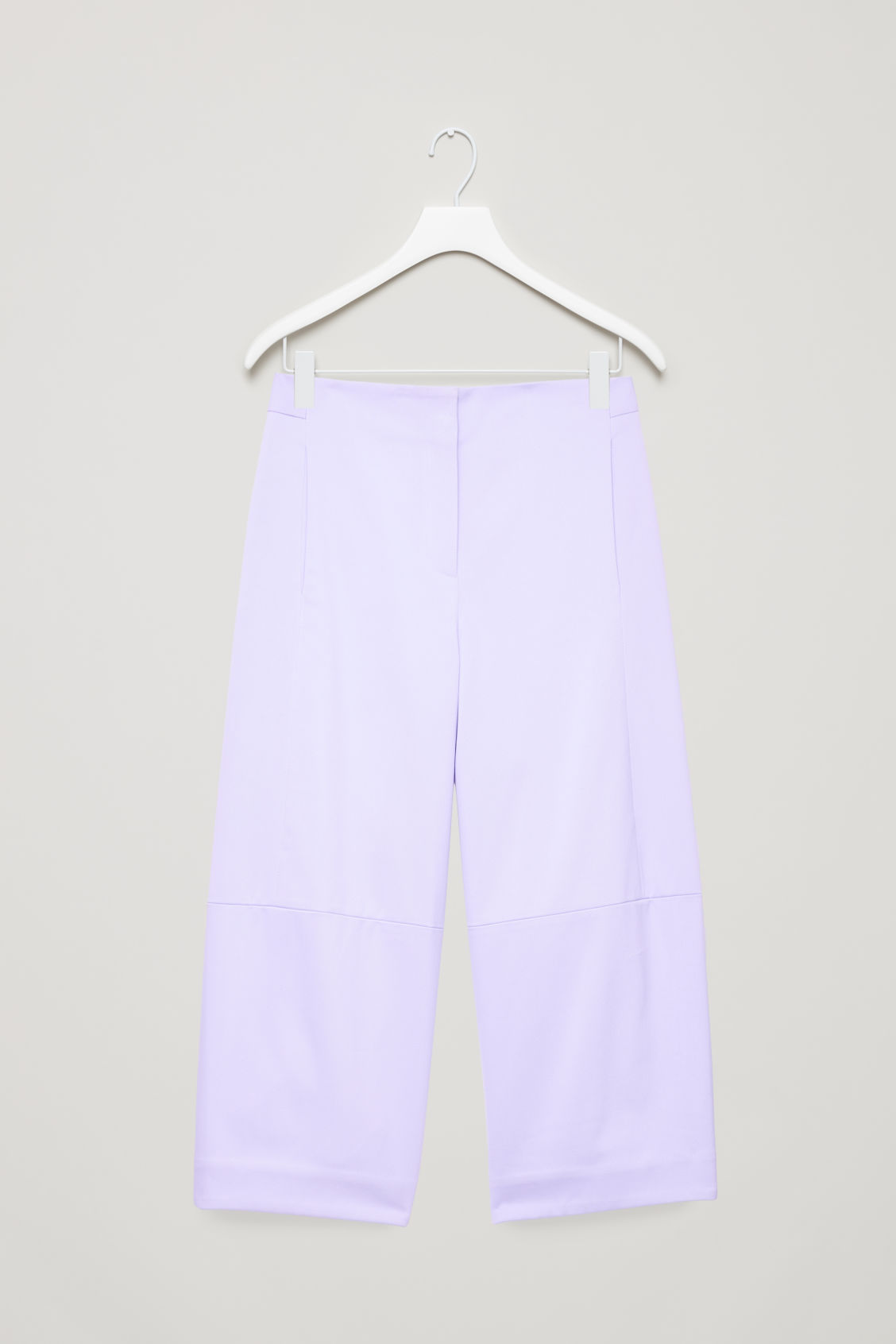 Front image of Cos structured cotton-twill chinos in purple