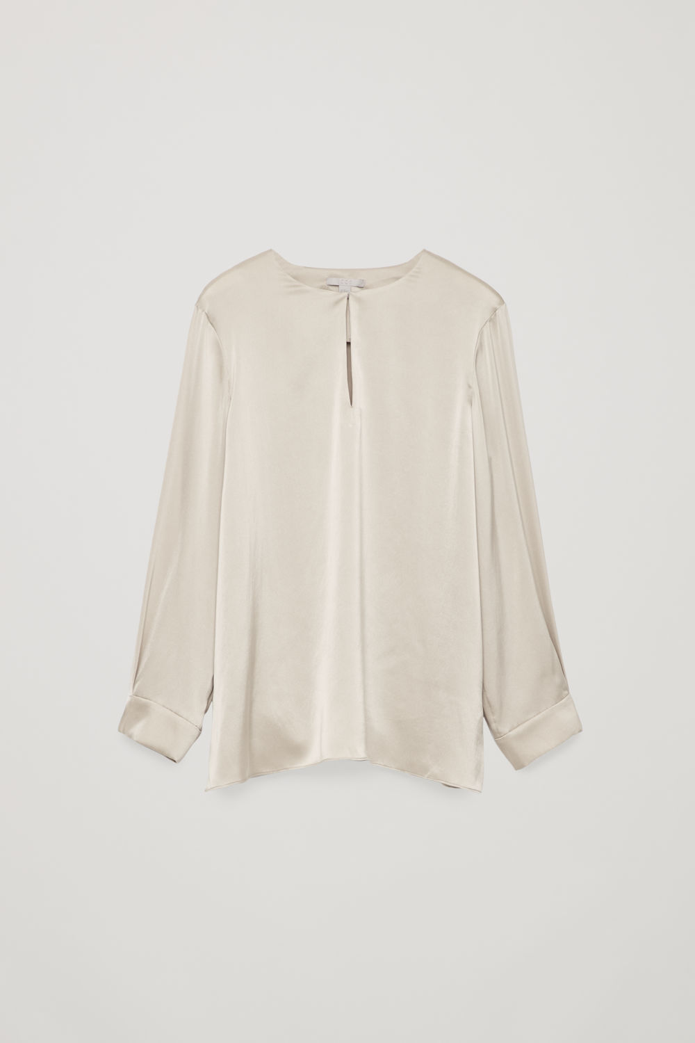 KEYHOLE-DETAILED SILK BLOUSE