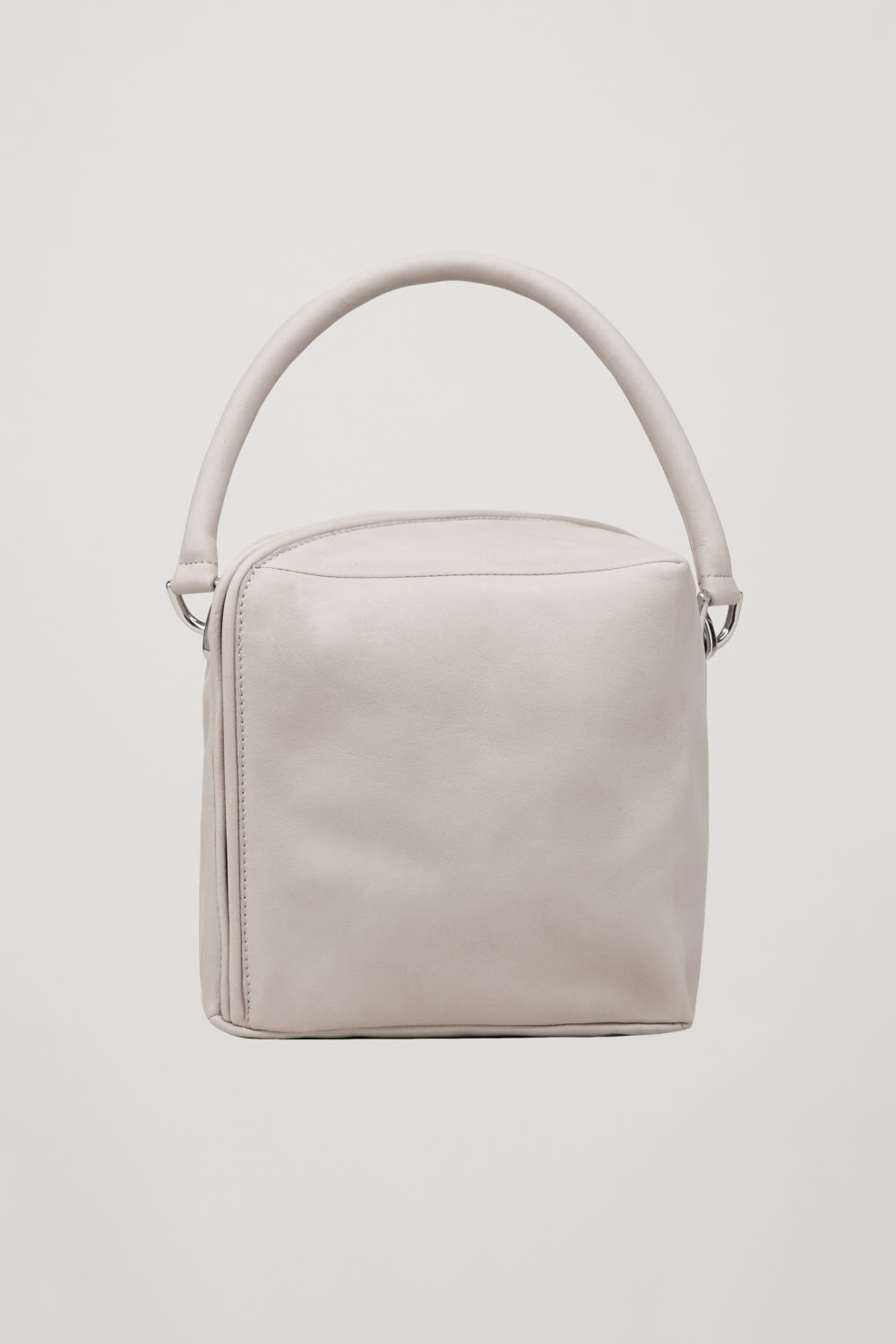 SQUARE LEATHER CROSS-BODY BAG