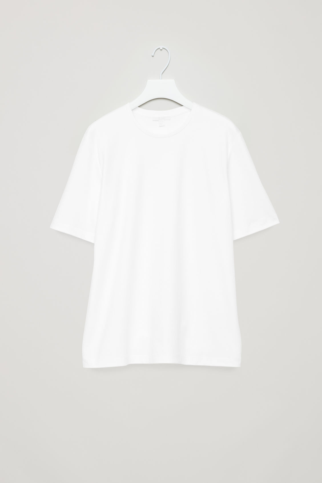 Front image of Cos round-neck jersey t-shirt in white