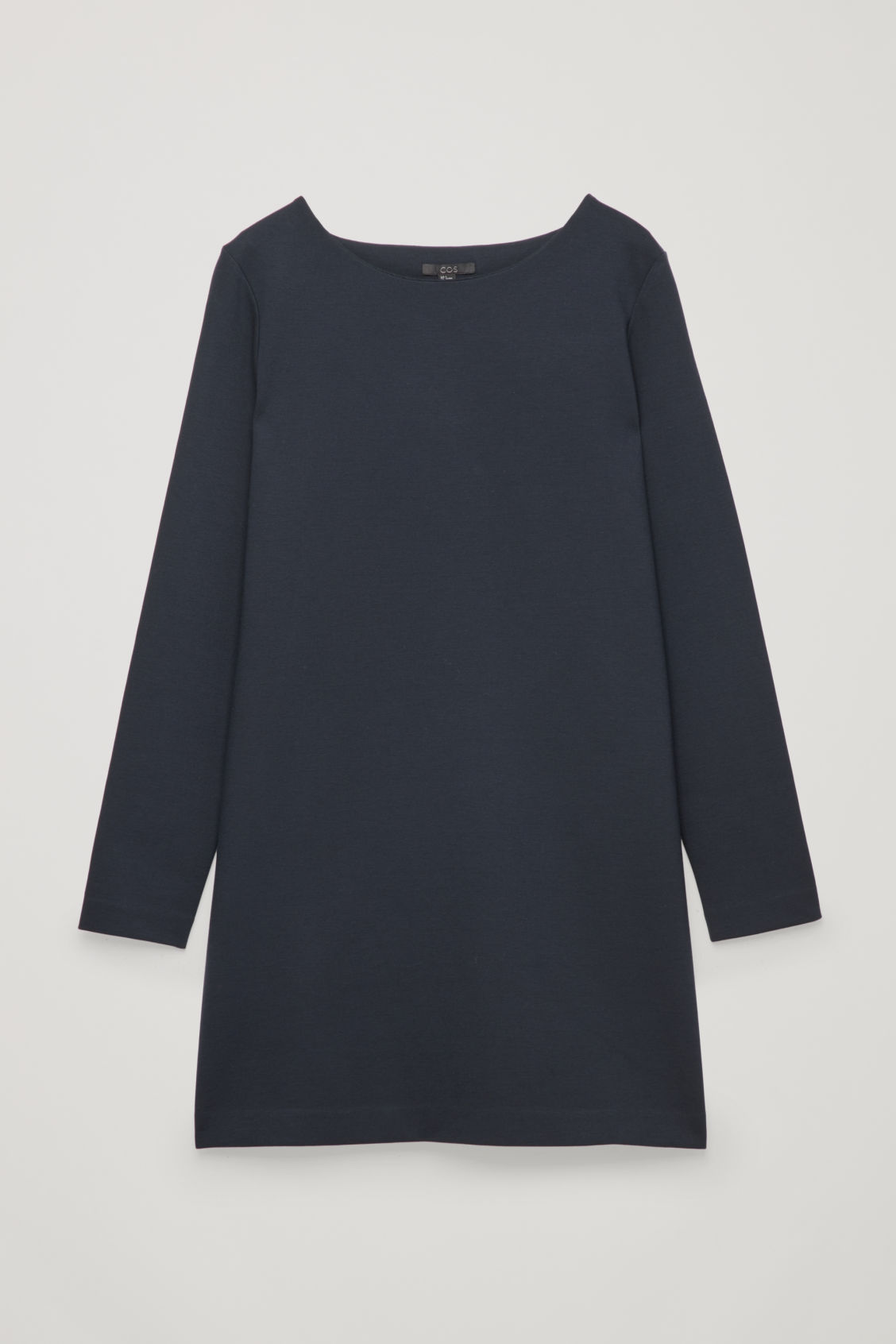 Front image of Cos long-sleeved jersey tunic in blue
