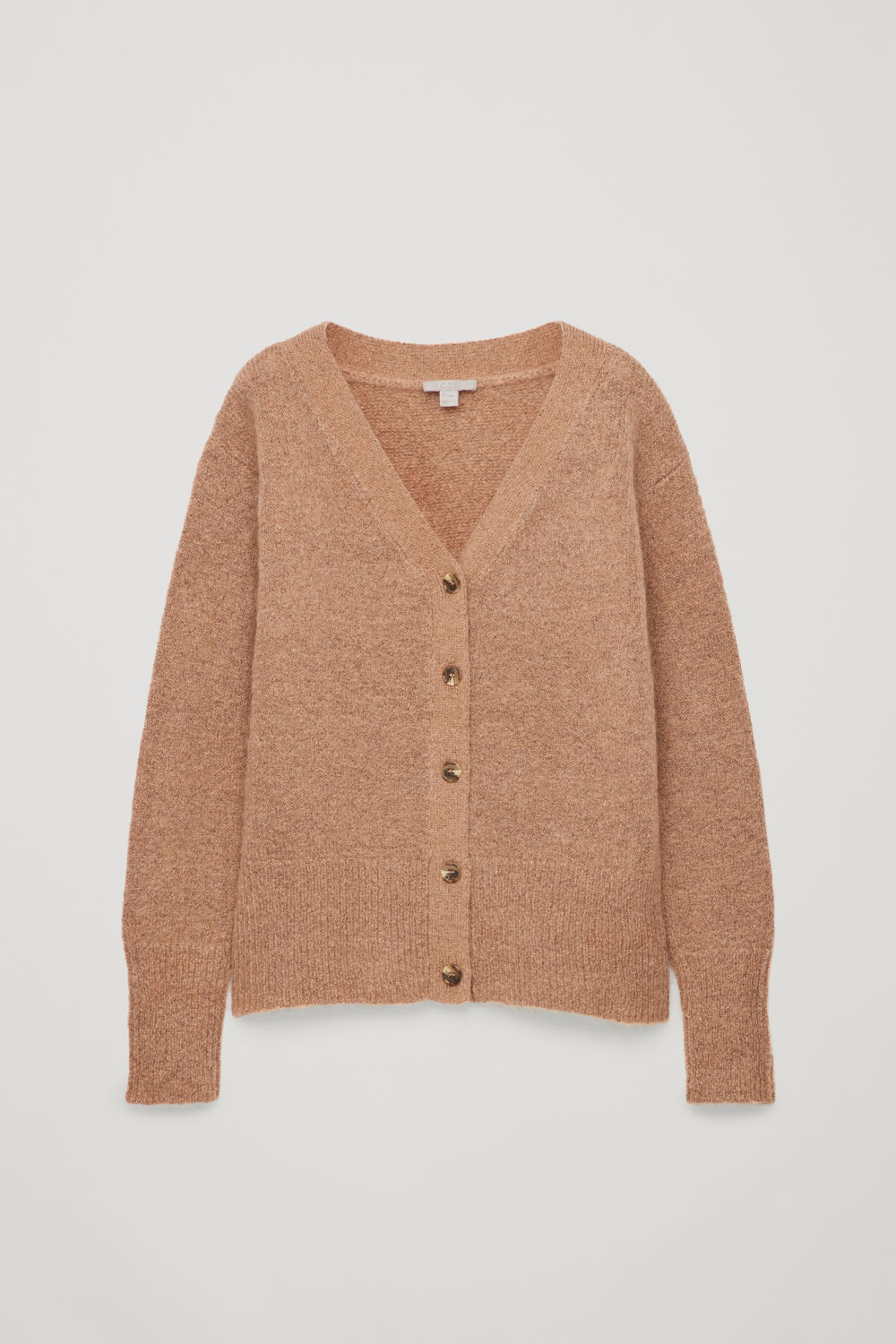 Front image of Cos textured wool cardigan in pink