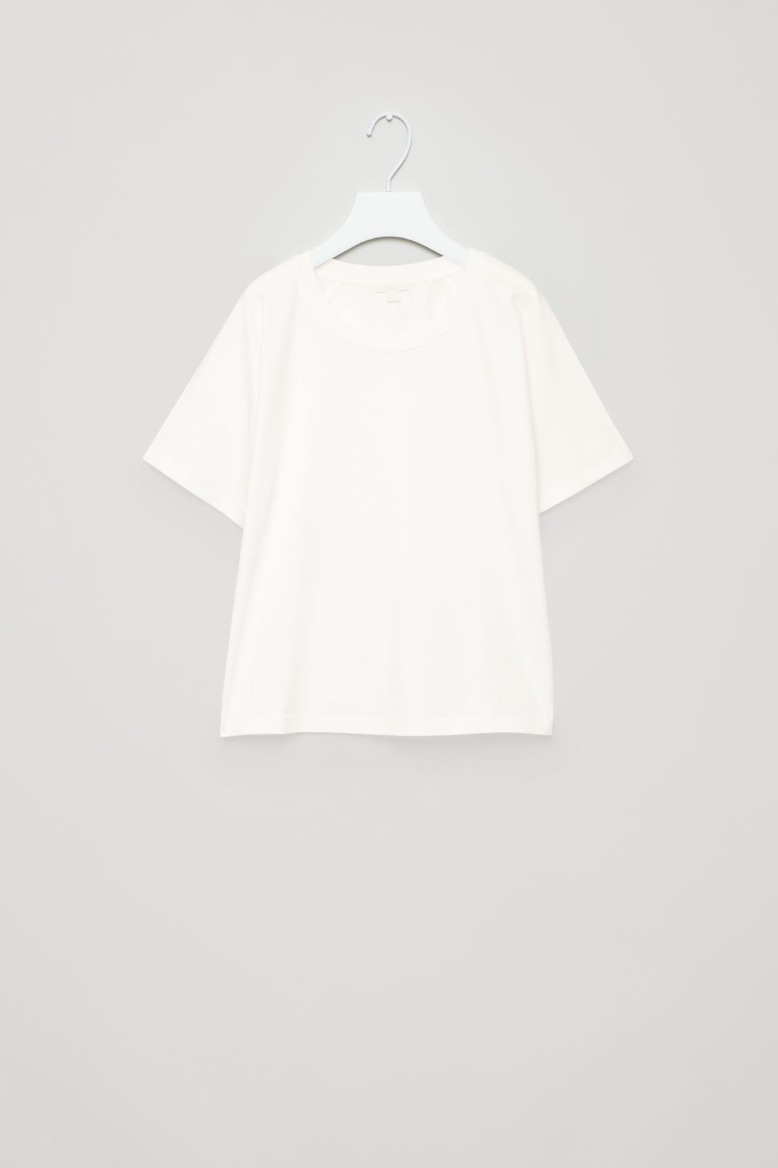Front image of Cos raglan-sleeved cotton t-shirt in white