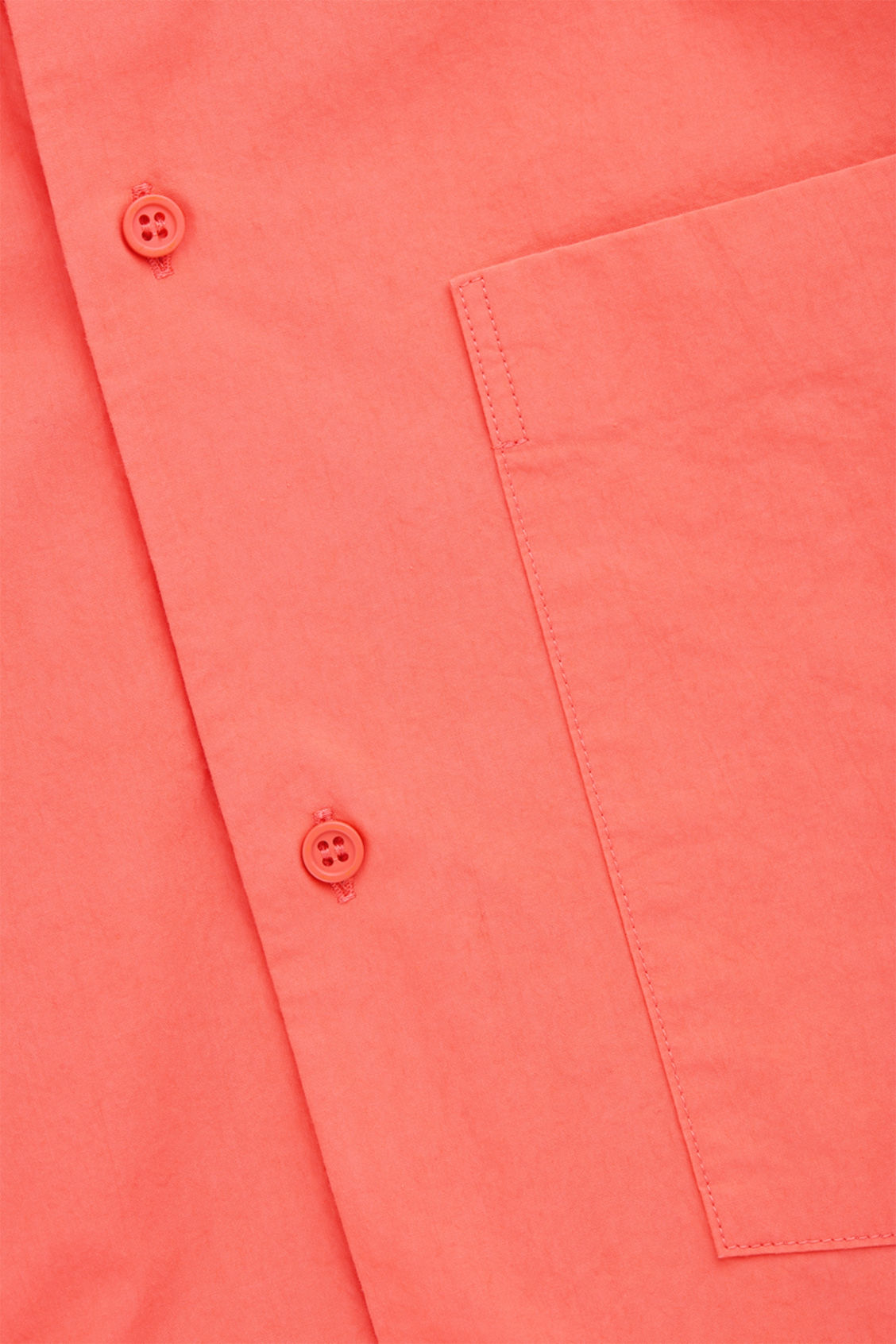 Side image of Cos cotton shirt with pocket in orange