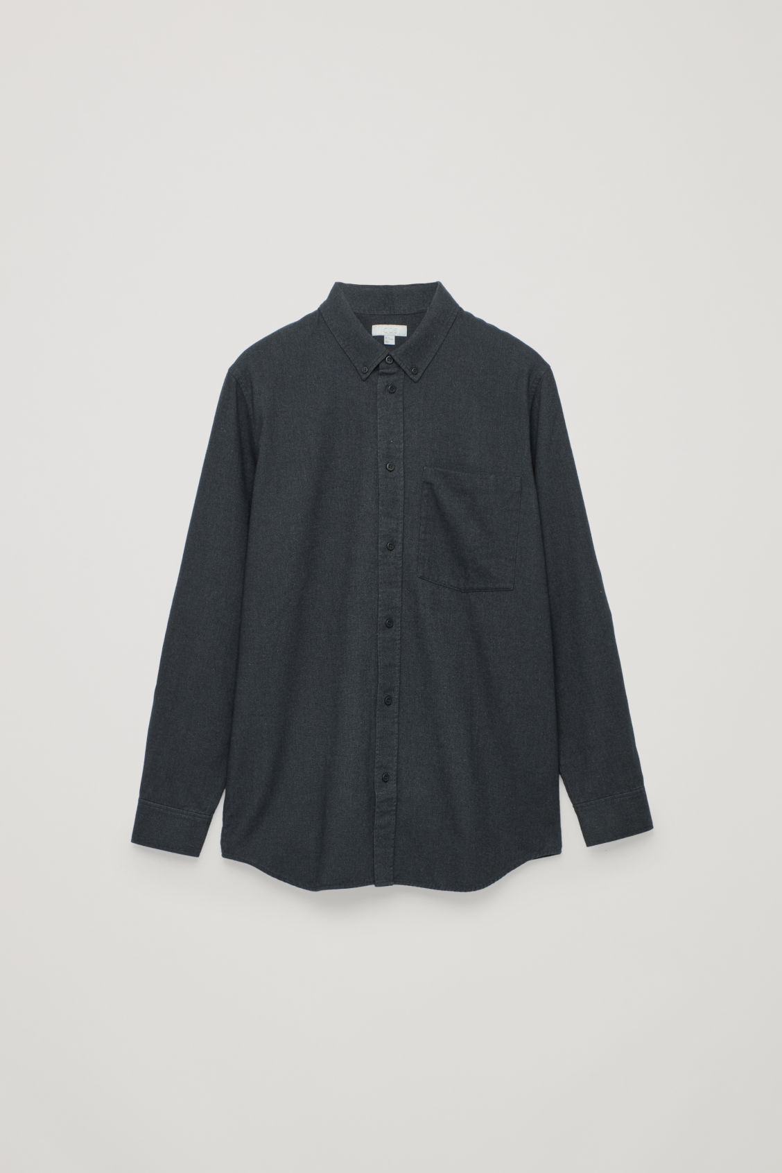 Front image of Cos flannel shirt with pocket in grey