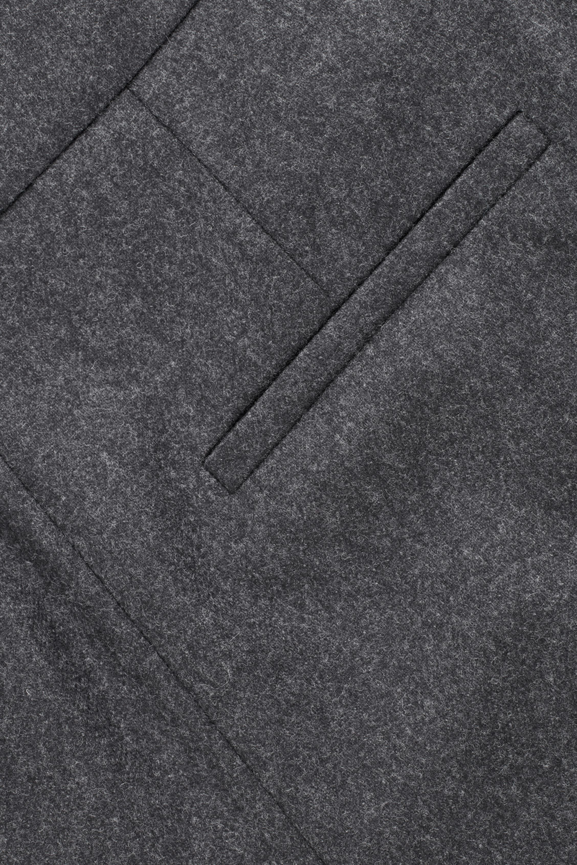Side image of Cos crop pleated wool trousers in grey