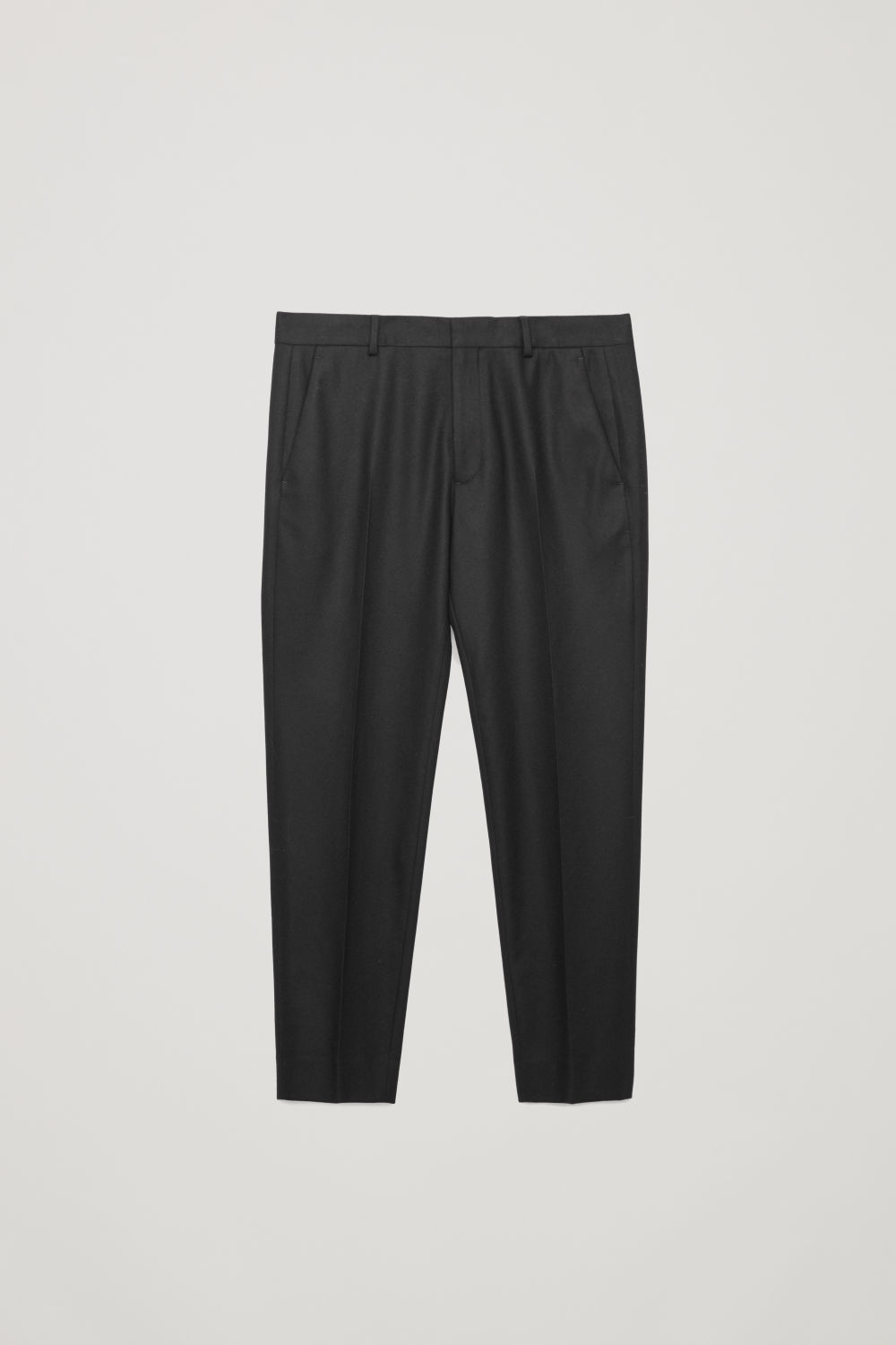 WOOL PRESSFOLD TROUSERS