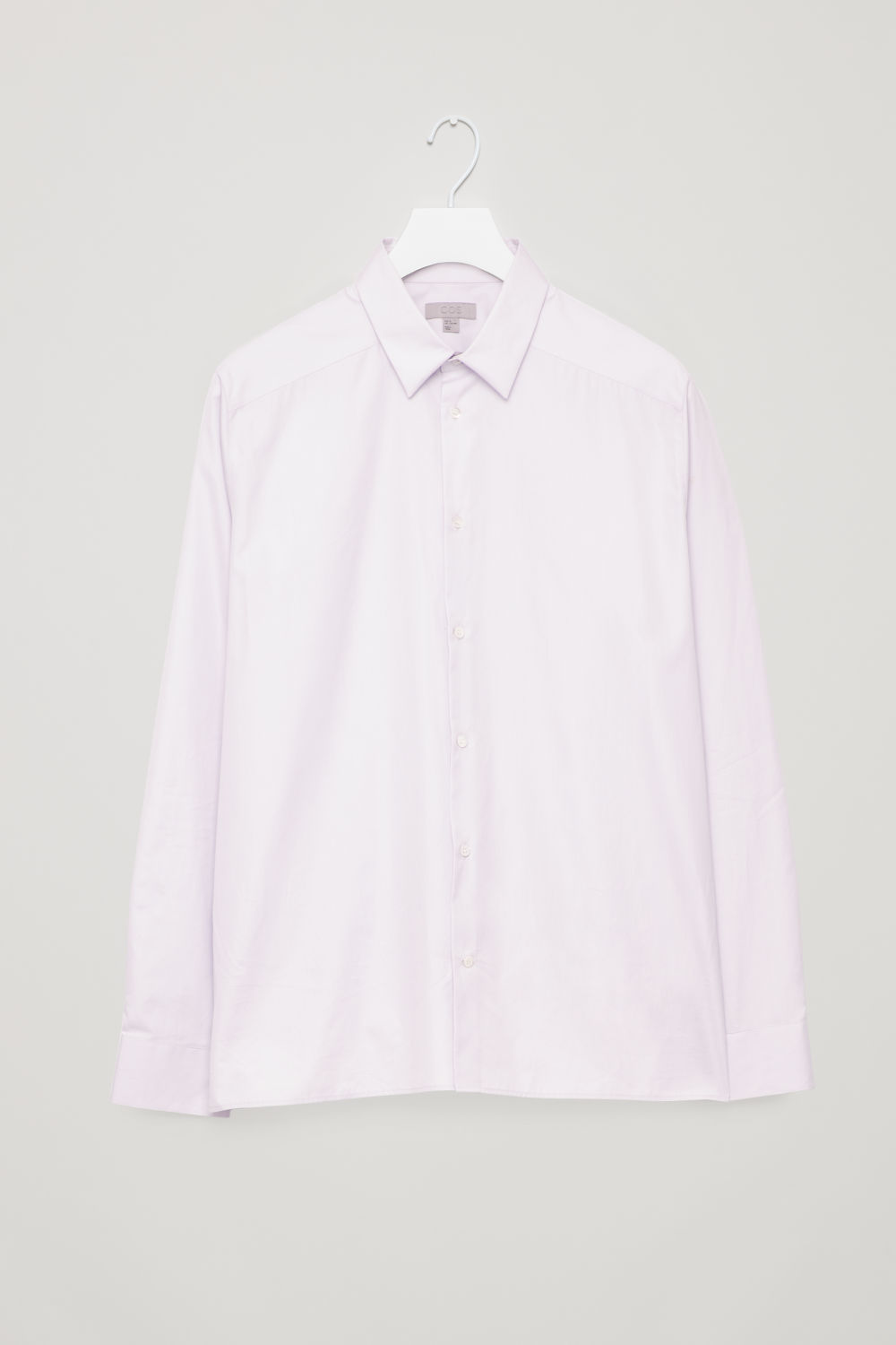 Front image of Cos oversized classic shirt in purple