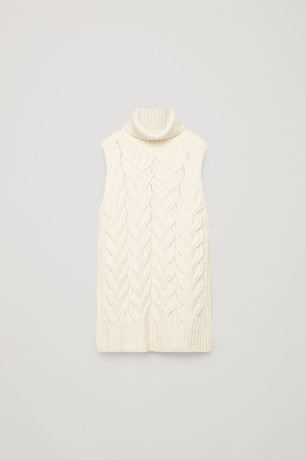 CABLE-KNIT WOOL VEST TOP
