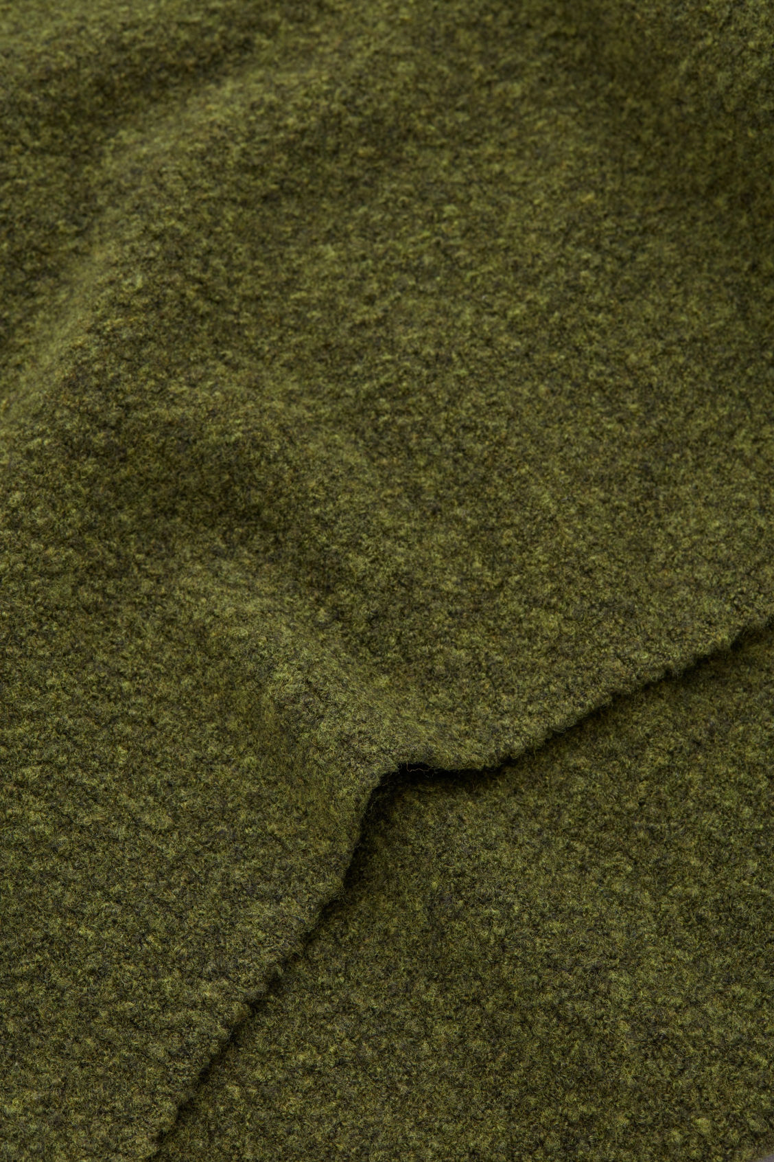 Side image of Cos oversized wool-boucle jumper in green