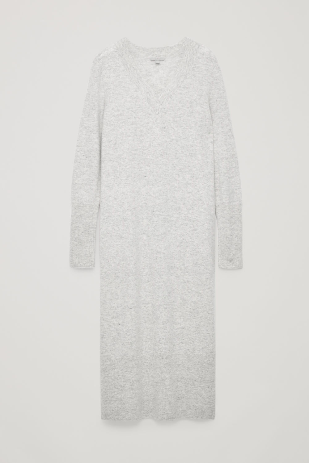 LONG WOOL-KNIT JUMPER DRESS