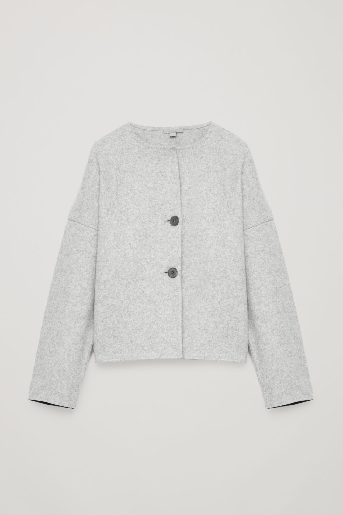Front image of Cos oversized wool cardigan in grey