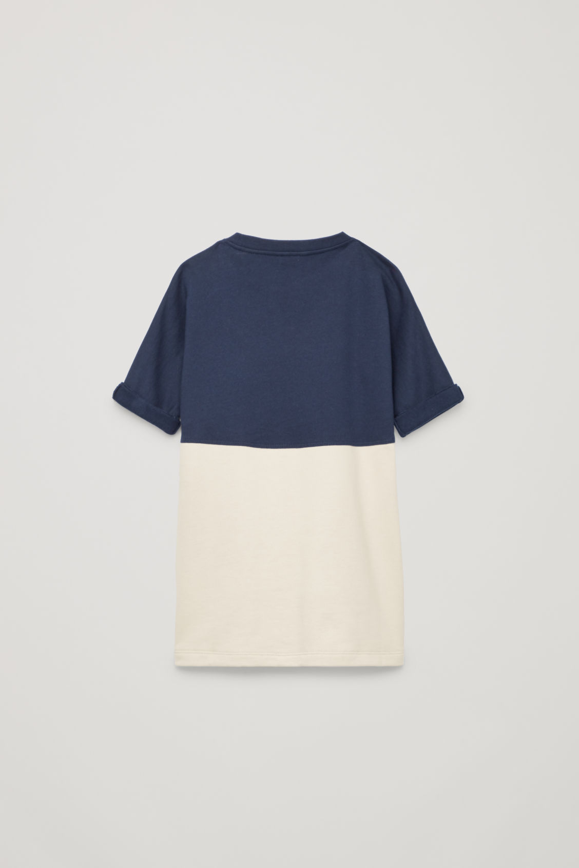 Side image of Cos pouch-pocket cotton dress in blue