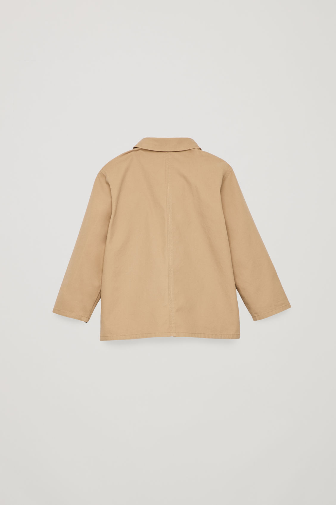 Side image of Cos cotton shirt jacket in brown