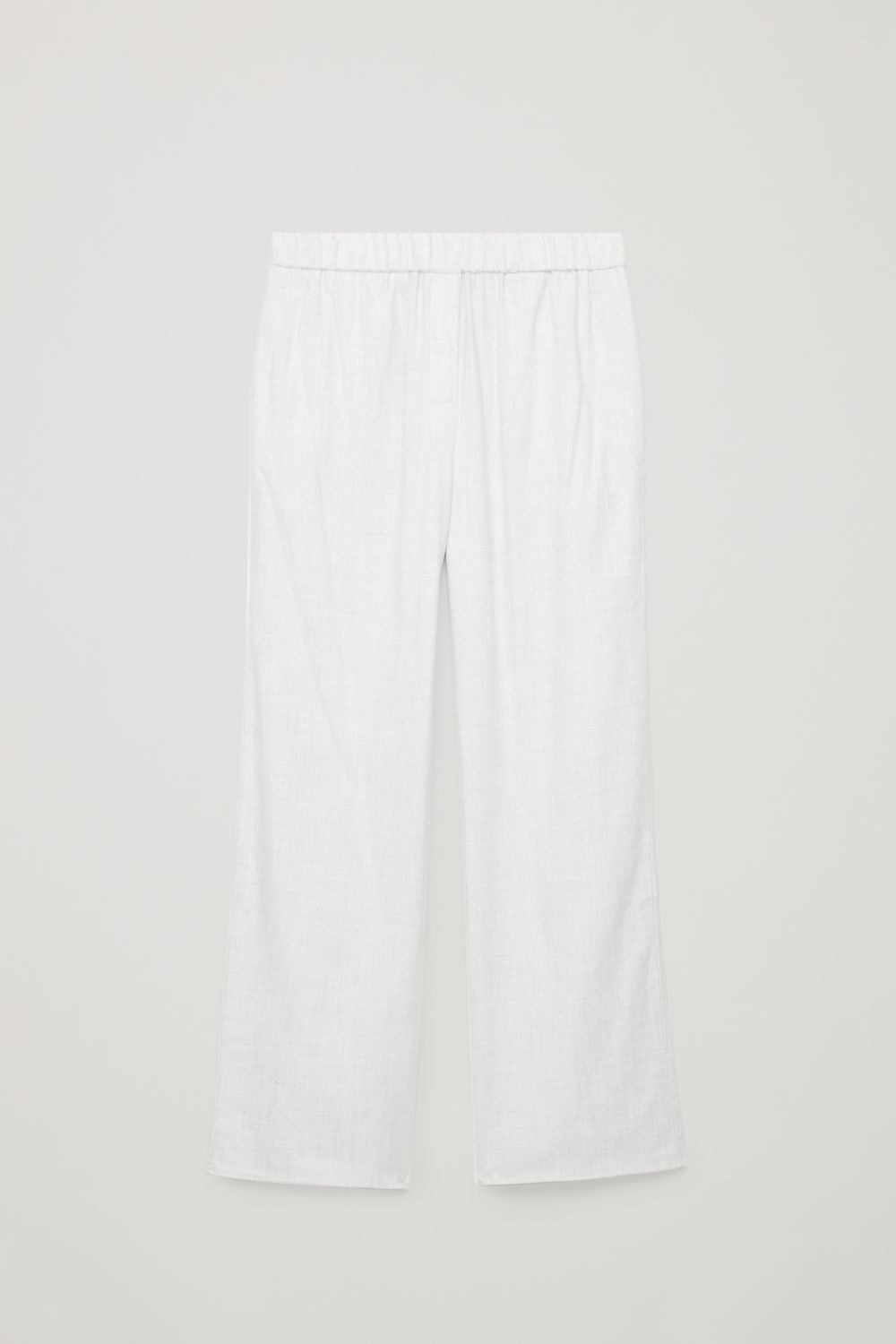 Front image of Cos cotton-flannel pyjama trousers  in grey