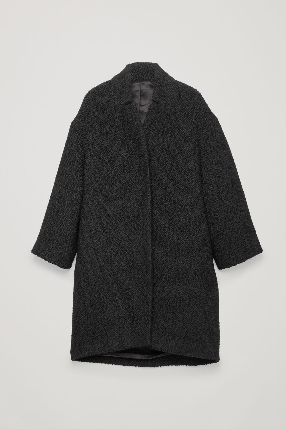 BOUCLE-WOOL COCOON COAT