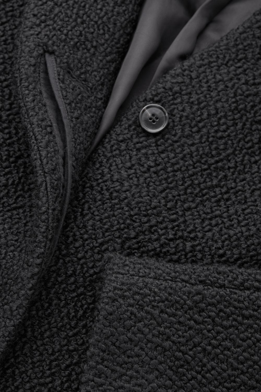f20b9b887de3 BOUCLE-WOOL COCOON COAT - Black - Coats and Jackets - COS