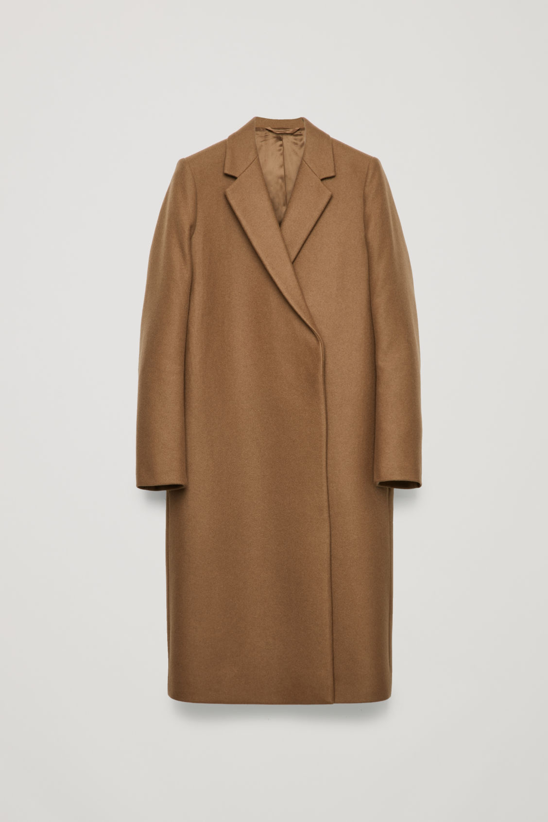 Front image of Cos double-breasted wool coat in
