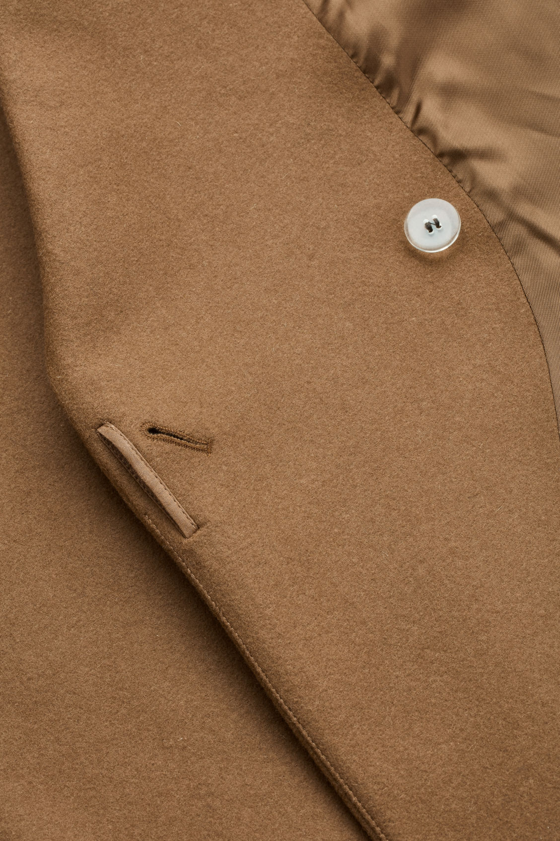 Side image of Cos double-breasted wool coat in