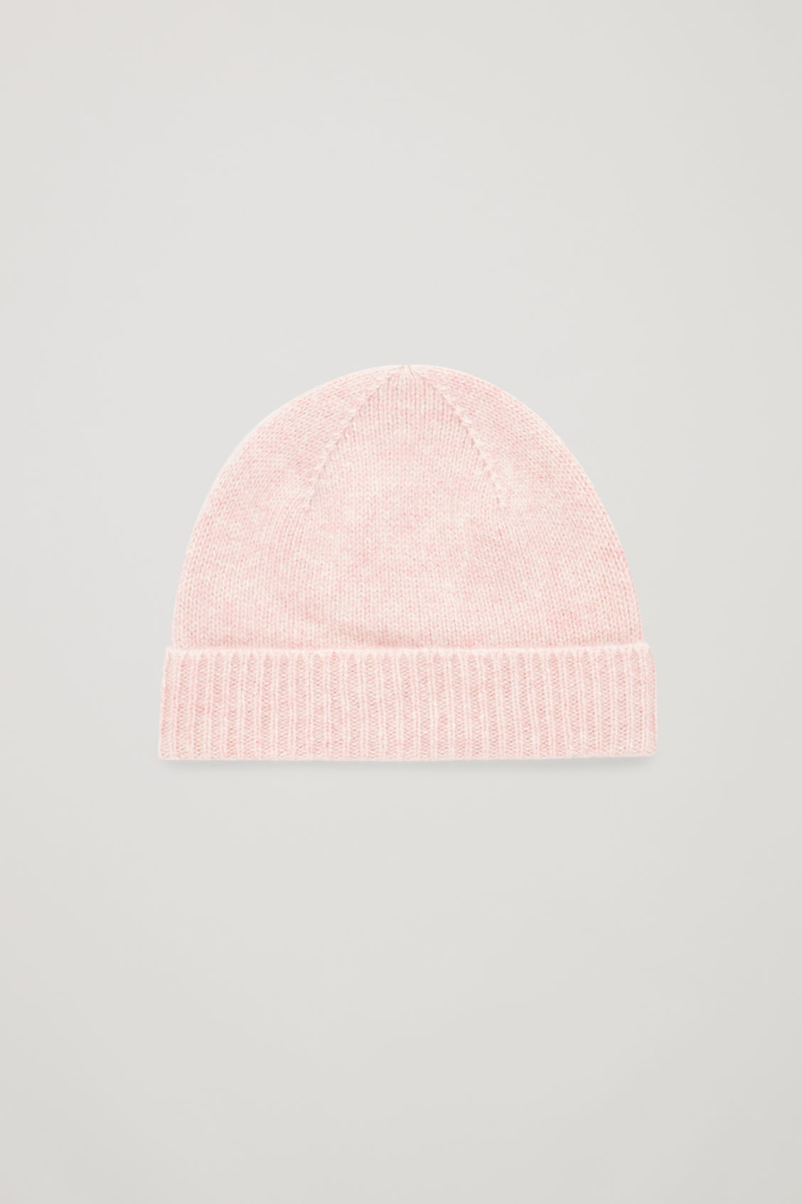 Front image of Cos cashmere knitted hat in pink