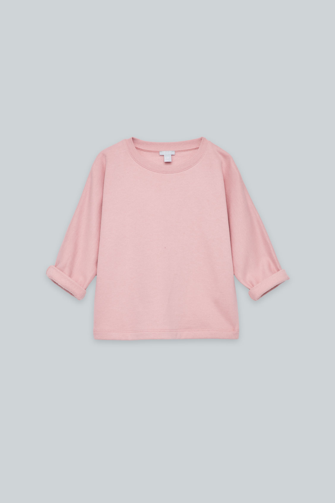Front image of Cos relaxed jersey jumper in pink