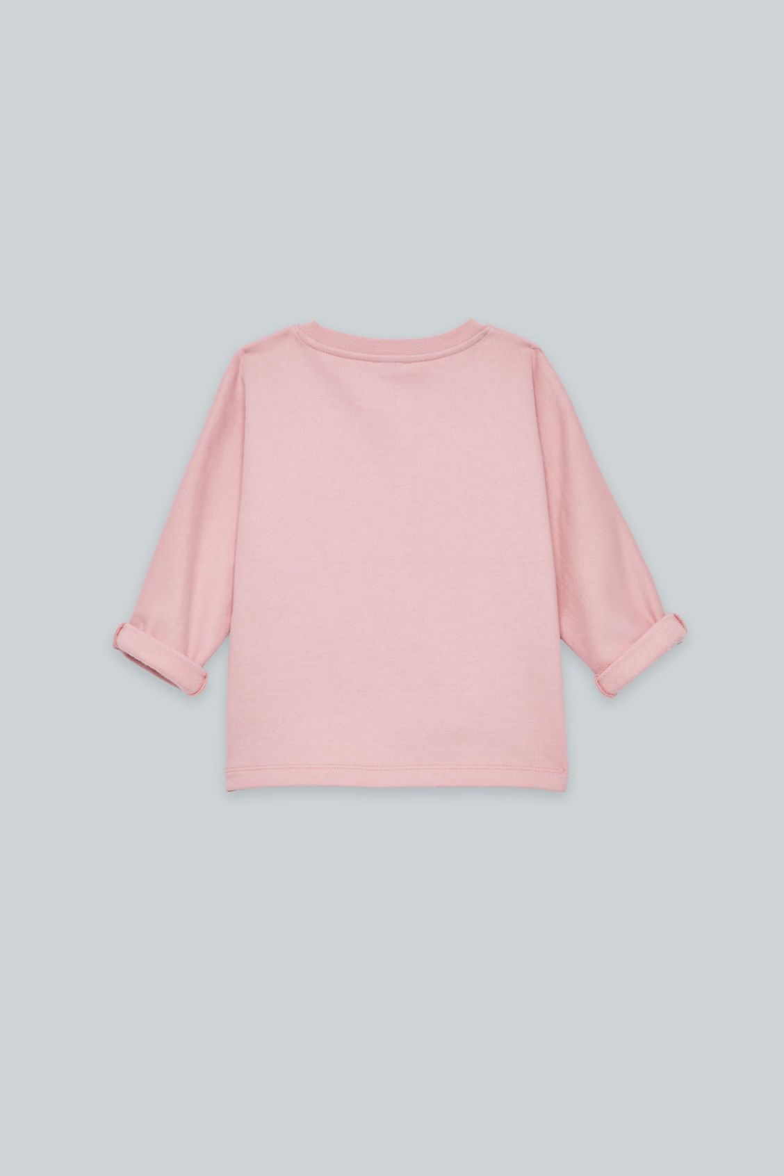 Side image of Cos relaxed jersey jumper in pink