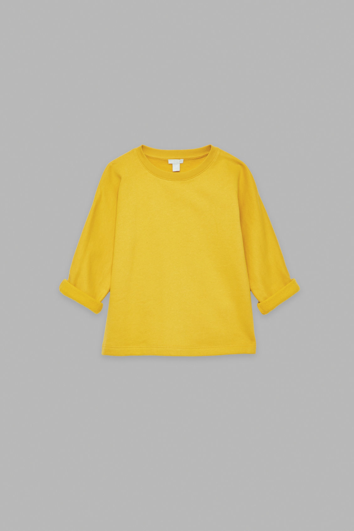 Front image of Cos relaxed jersey jumper in yellow