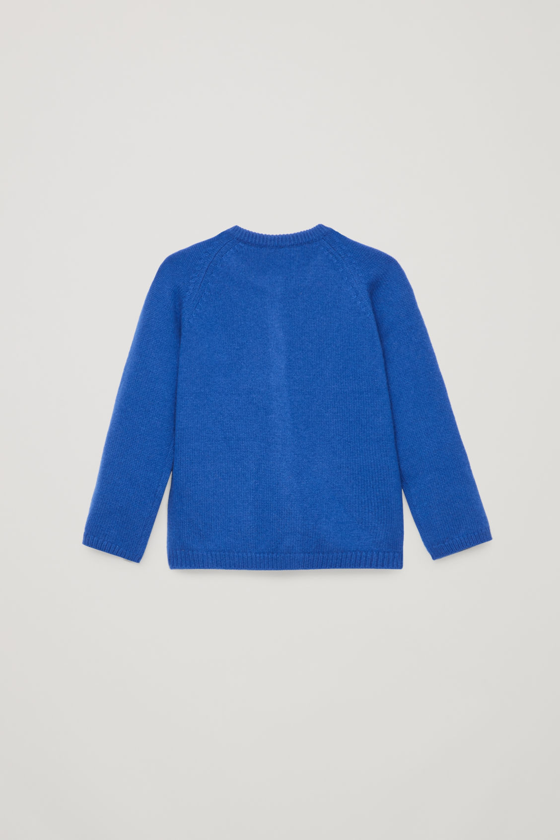 Side image of Cos cashmere cardigan in blue