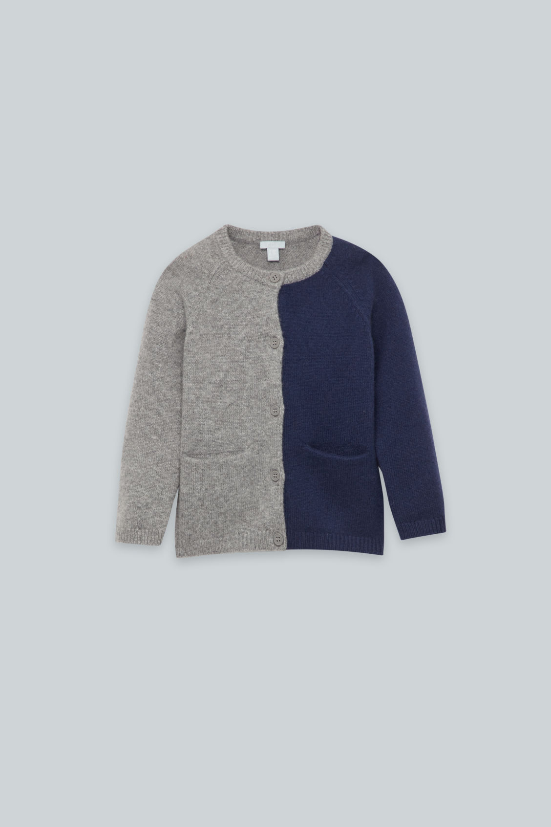 Front image of Cos cashmere cardigan in grey