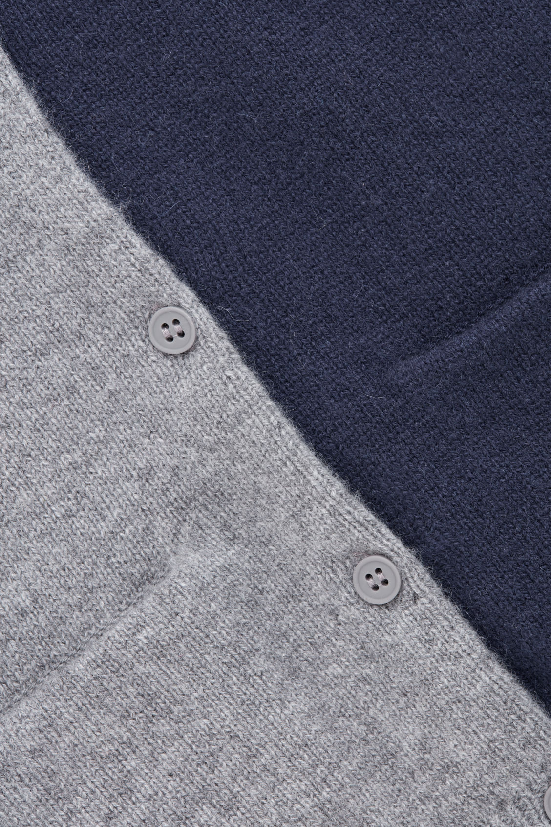 Side image of Cos cashmere cardigan in grey