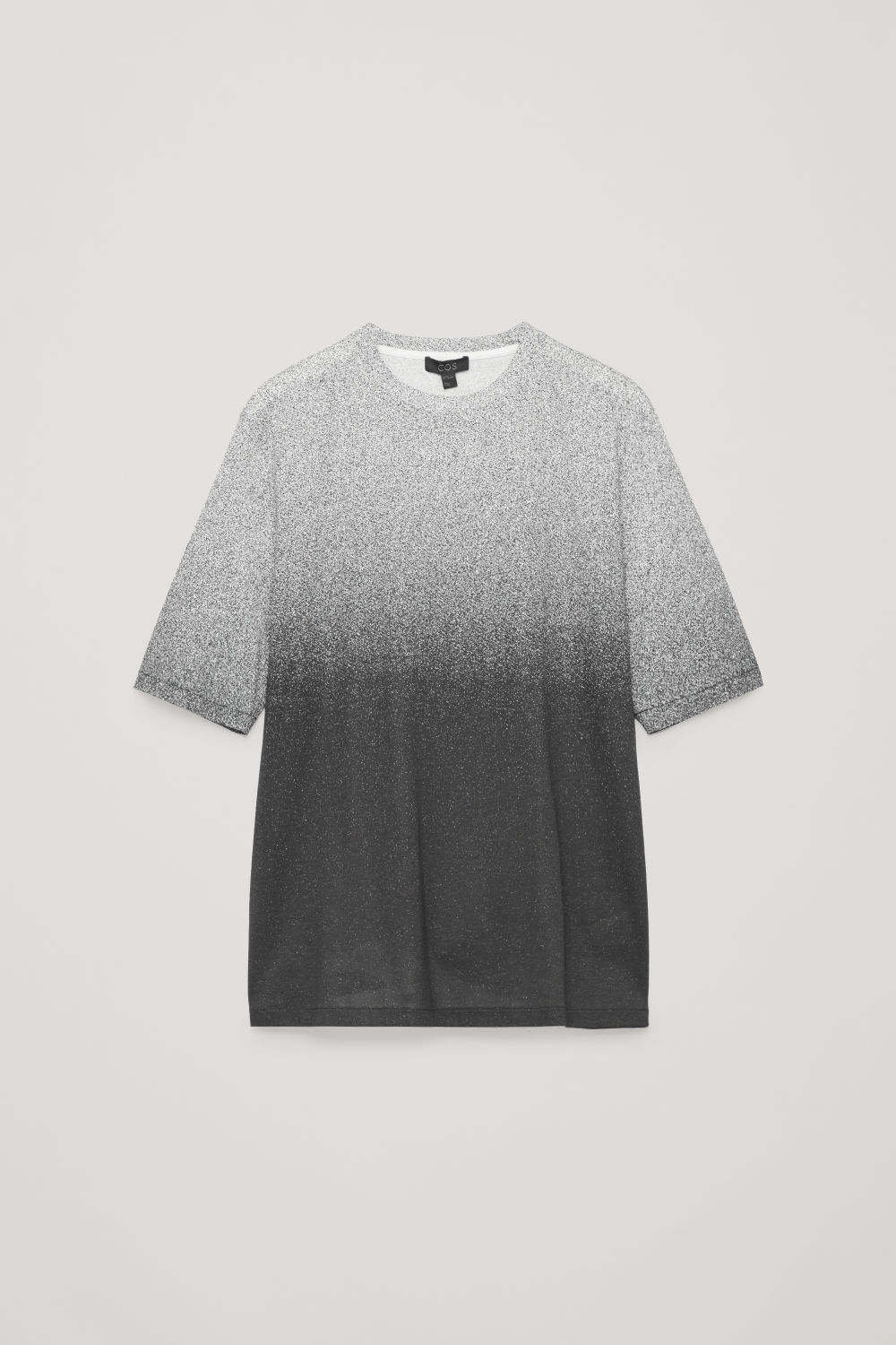 Front image of Cos gradual-print t-shirt in black