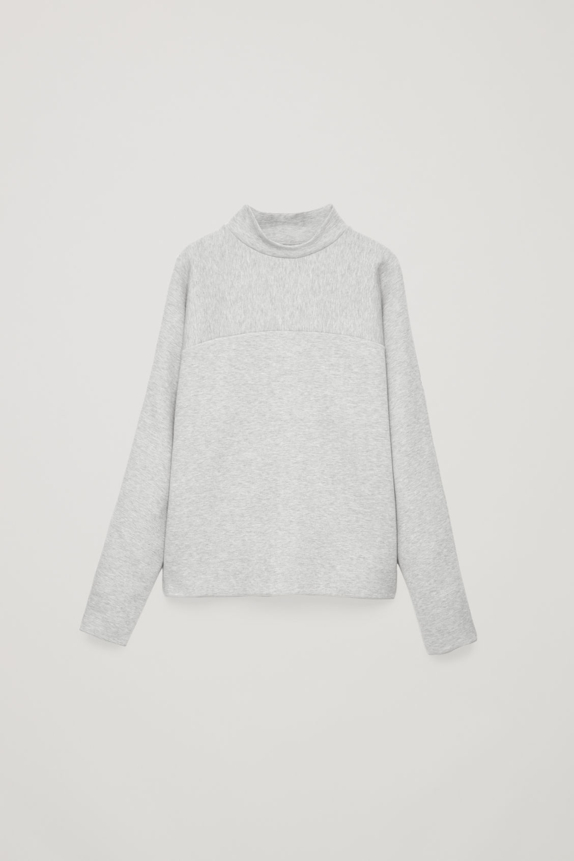Front image of Cos mock-neck jersey jumper in grey
