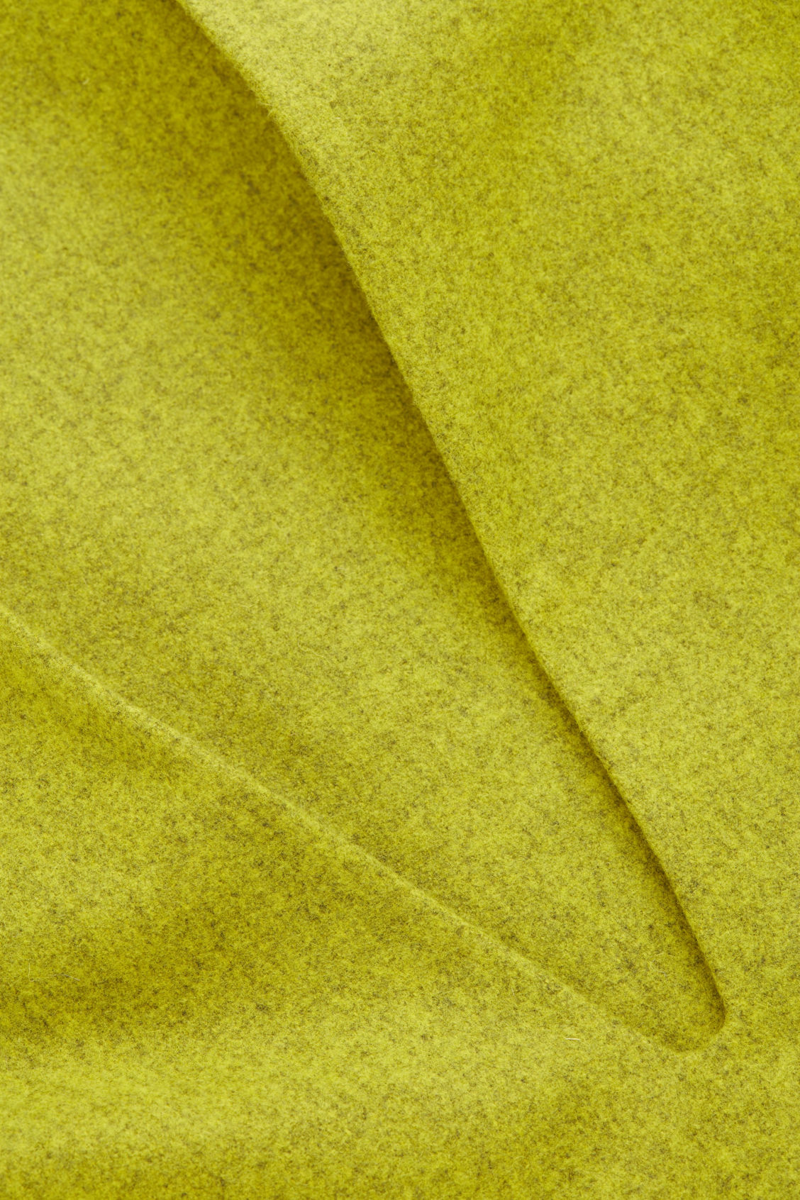 Side image of Cos deep v-neck wool top in yellow