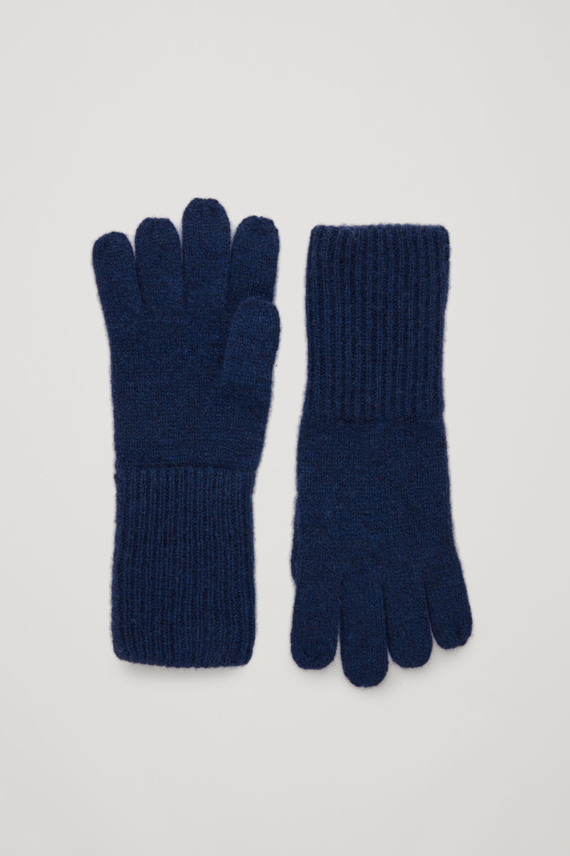 Front image of Cos cashmere gloves in blue