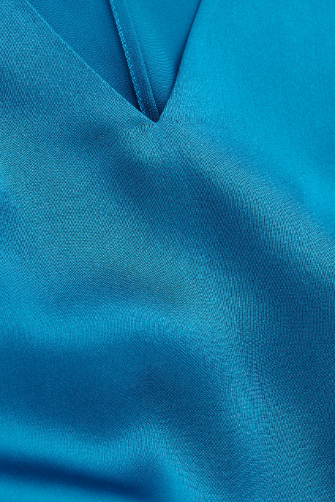 Side image of Cos boxy silk top in turquoise