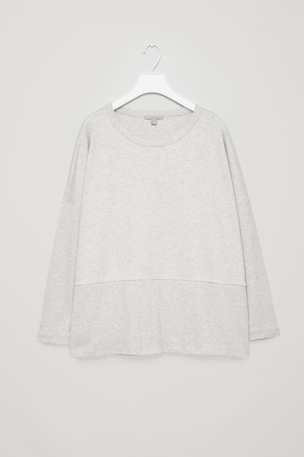 COCOON RIBBED-JERSEY TOP