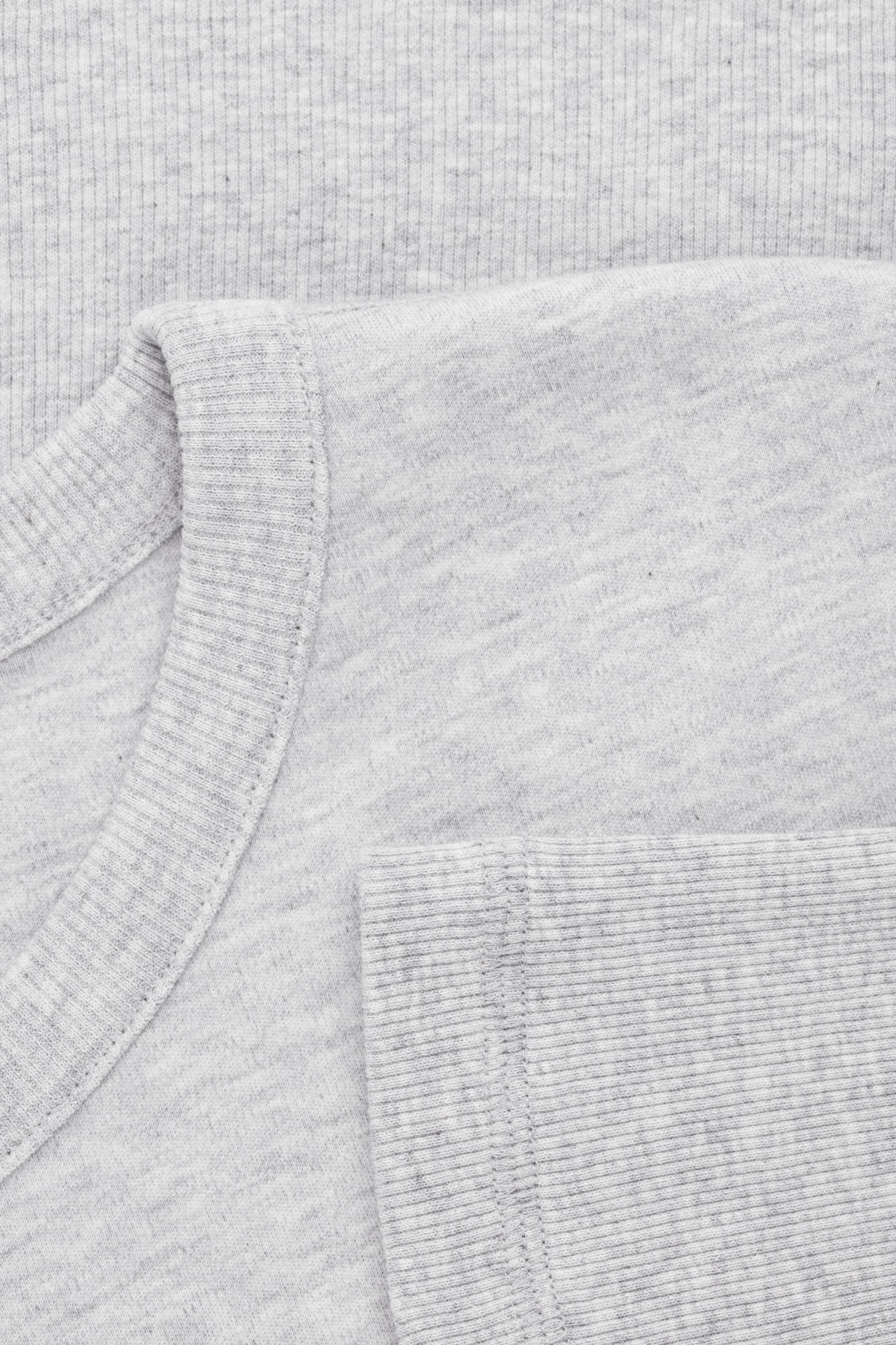 Side image of Cos cocoon ribbed-jersey top in grey