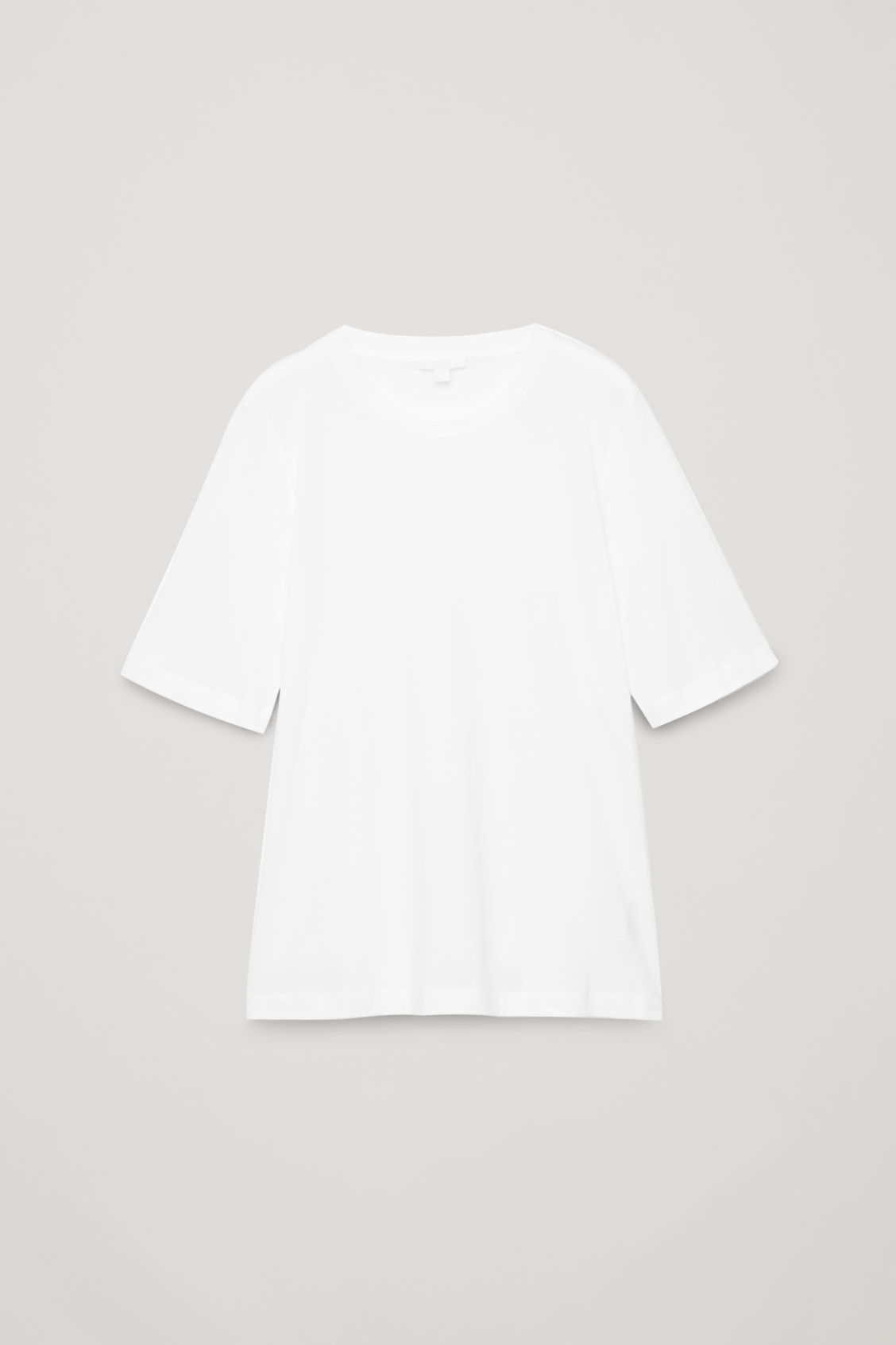 Front image of Cos soft cotton t-shirt  in white