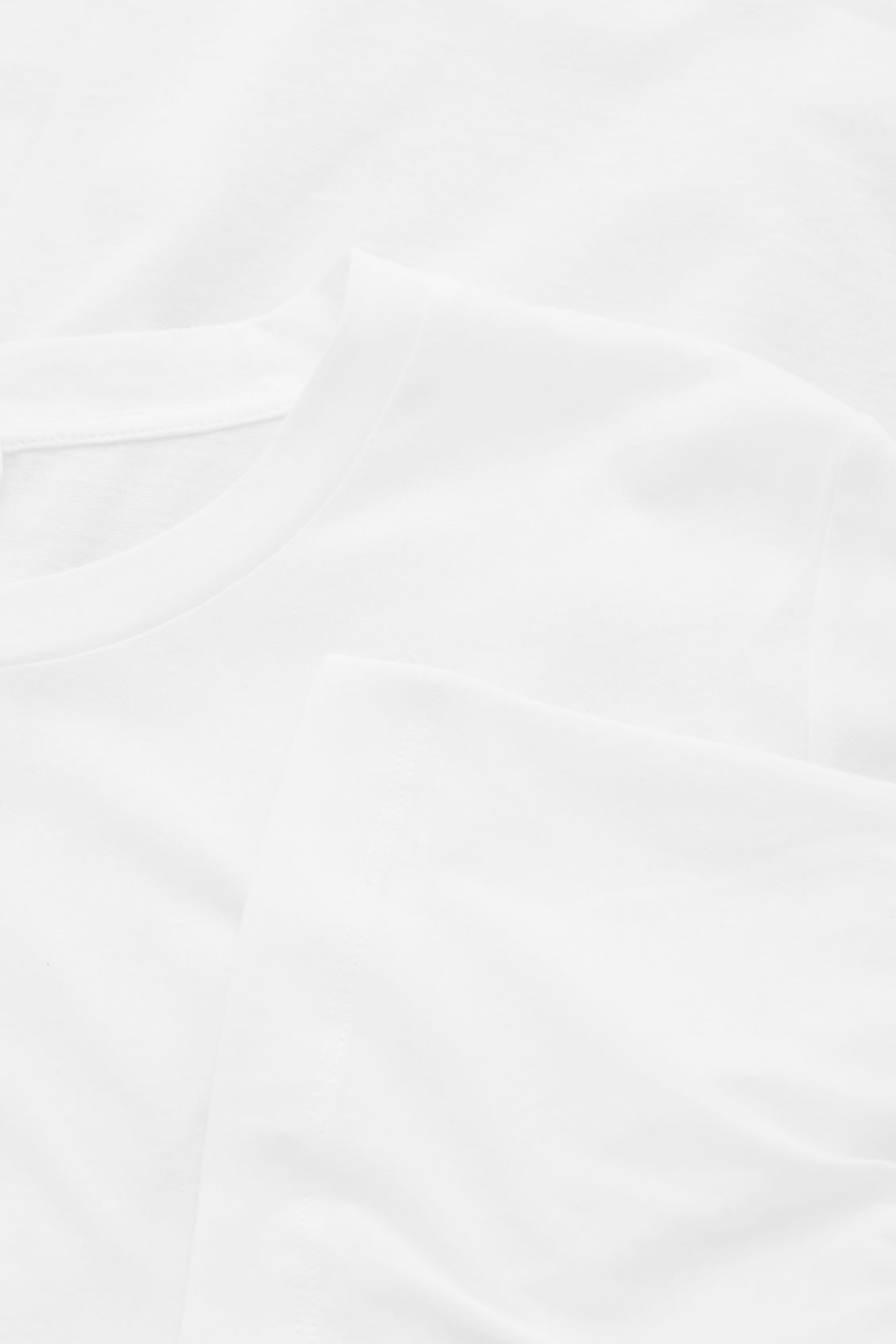 Side image of Cos soft cotton t-shirt  in white