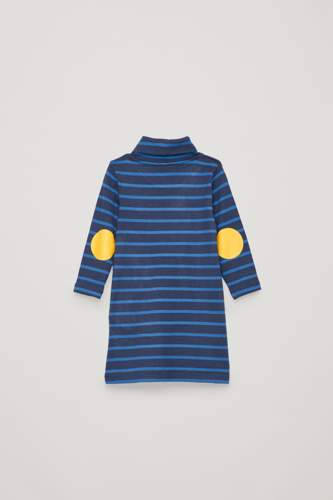 Side image of Cos jersey roll-neck dress in blue