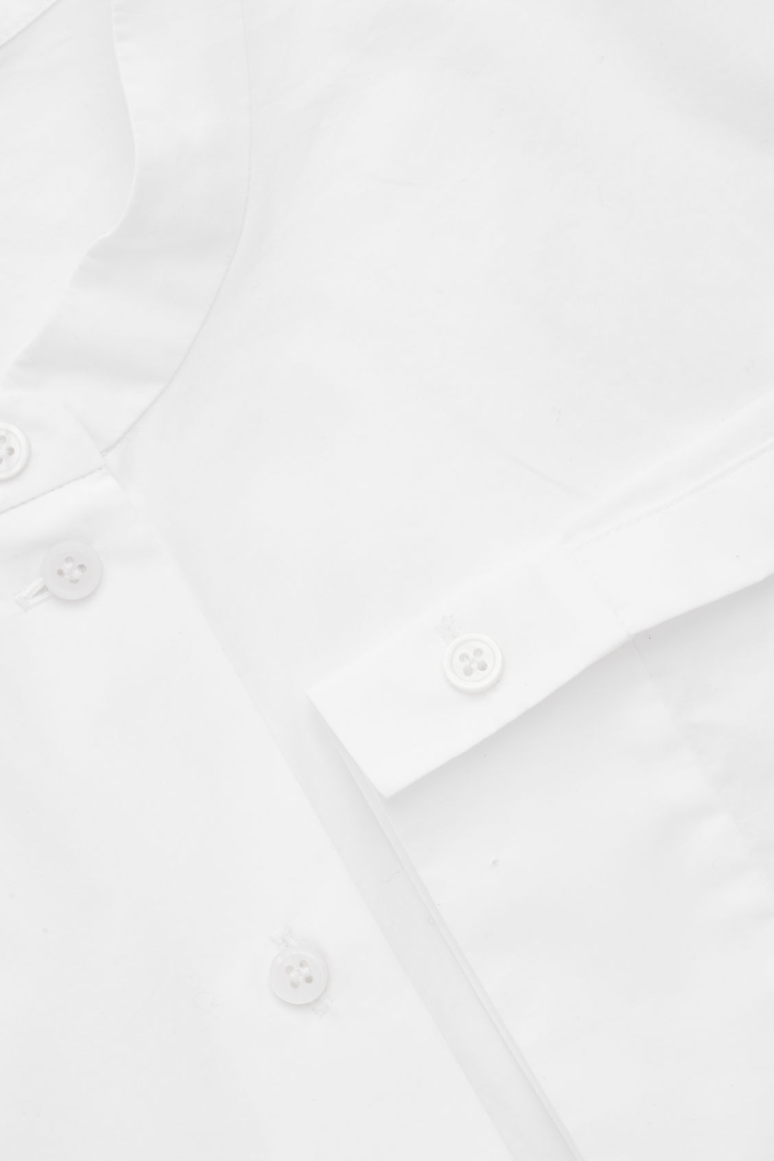 Side image of Cos grandad-collared poplin shirt  in white